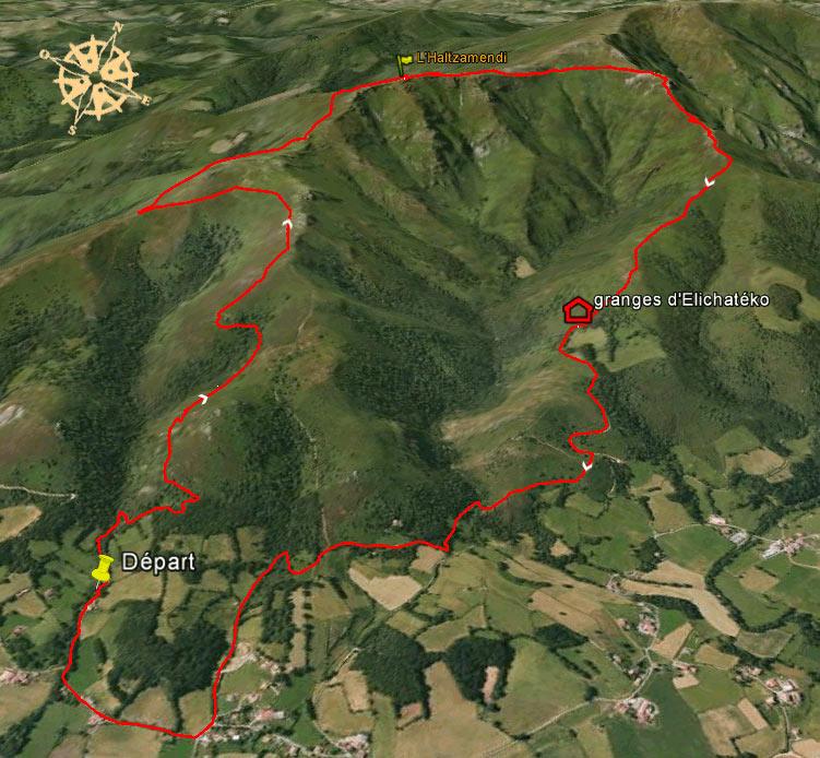 Randonnée à l'Haltzamendi depuis Osses