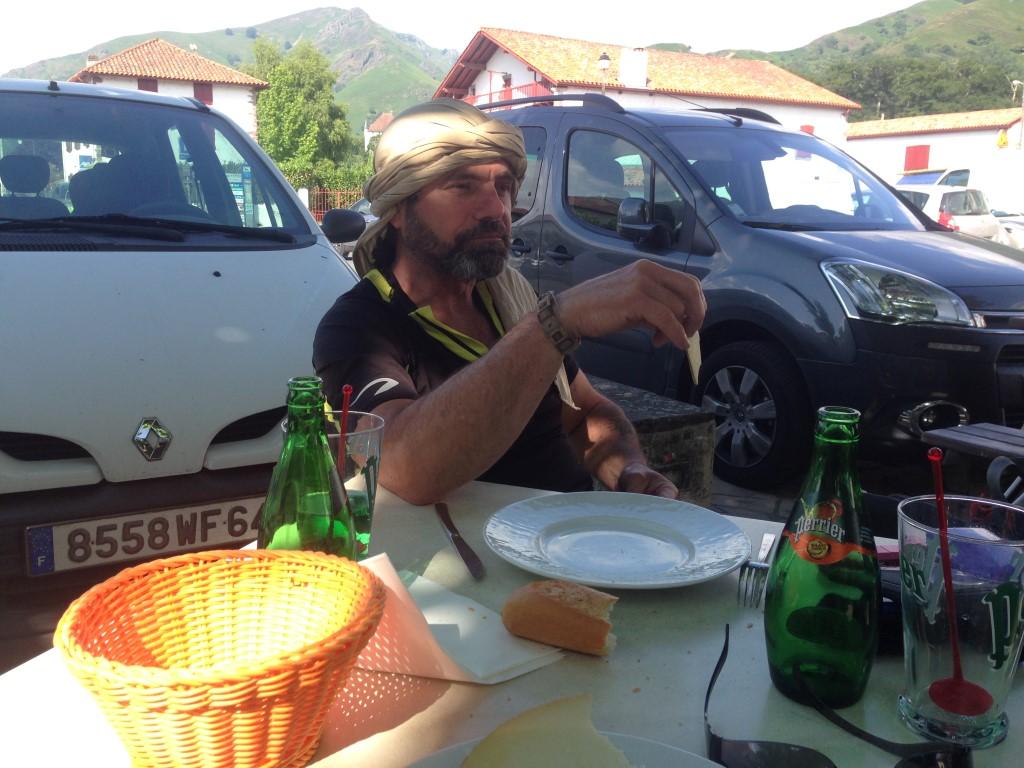 Pause casse-croute à St Etienne de Baigorry