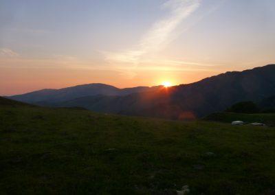 Levée de soleil sur le col d'Irau