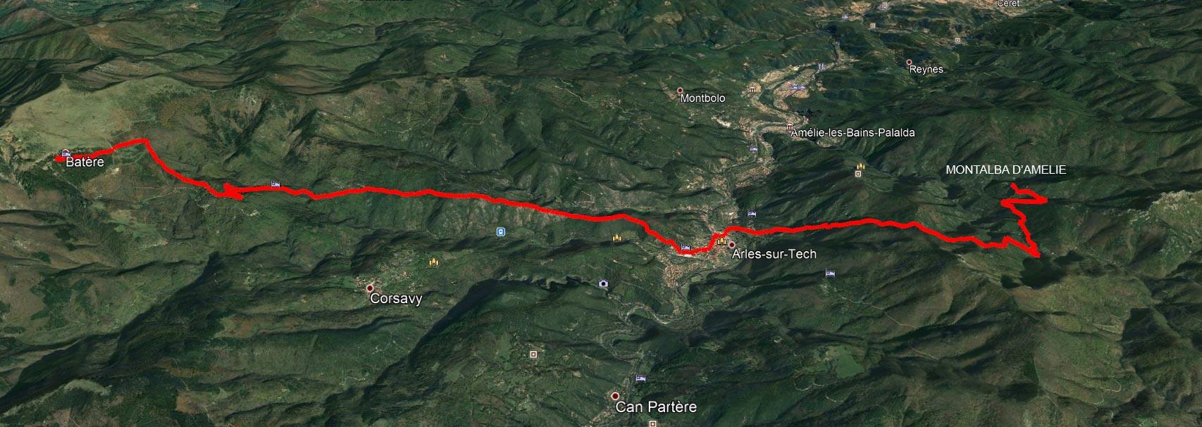 Du refuge de Batère à Montalba d'Amélie