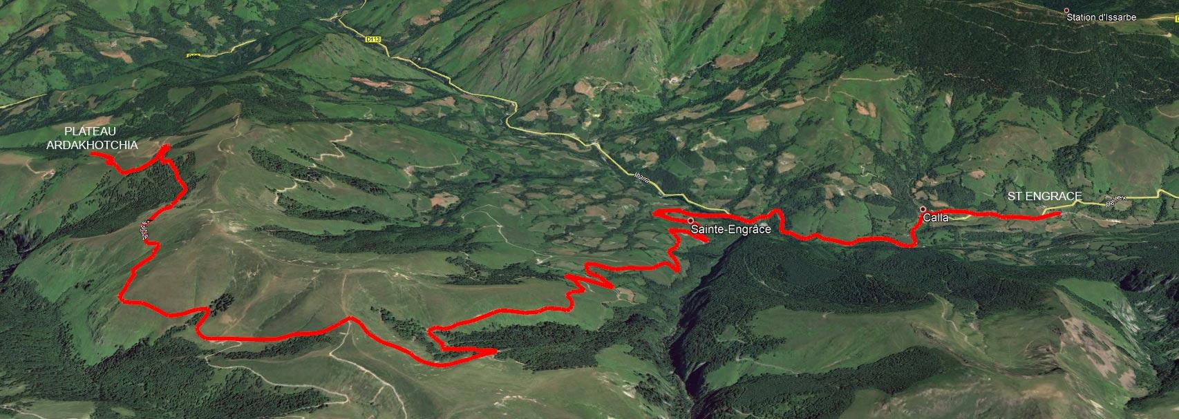 Du plateau Ardakhotchia a St Engrace